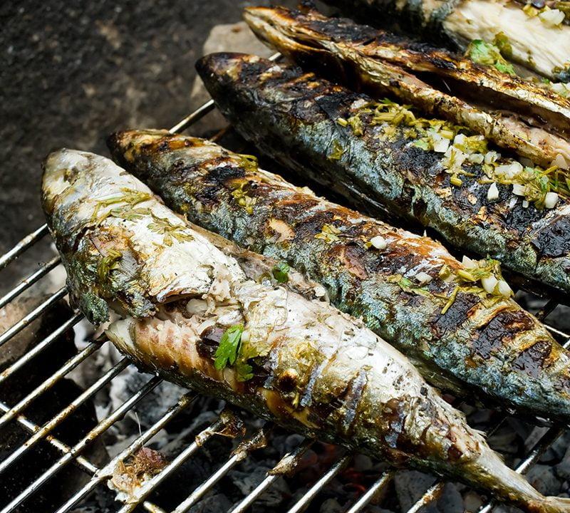 Sardines a la plancha - Huis aan de Costa