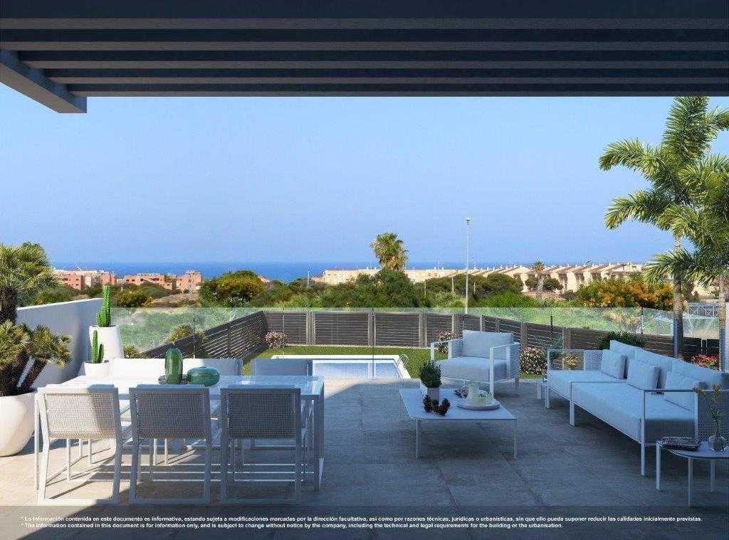 Maisonnette op begane grond en 1e verdieping met zeezicht in Guardamar del Segura