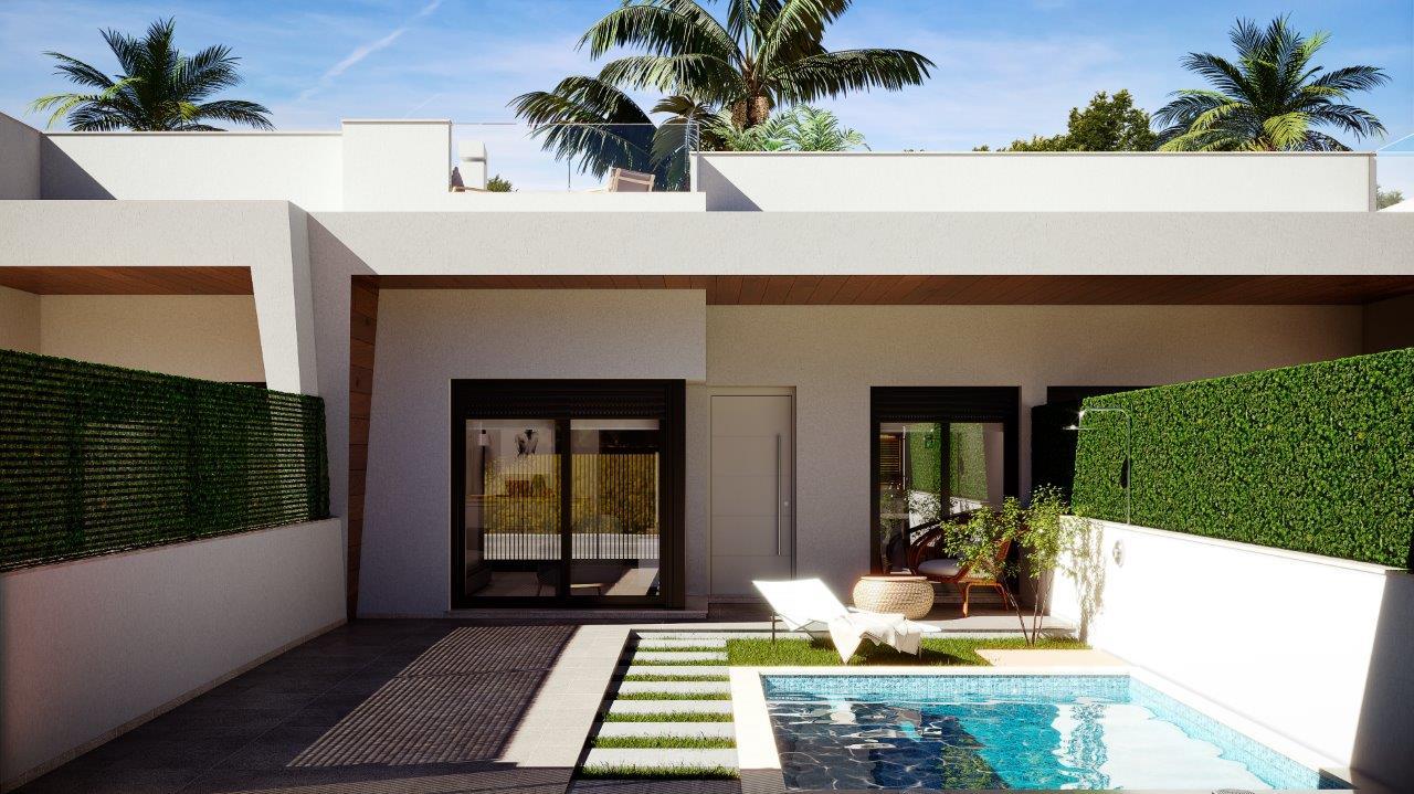Geschakelde bungalows met privé zwembad