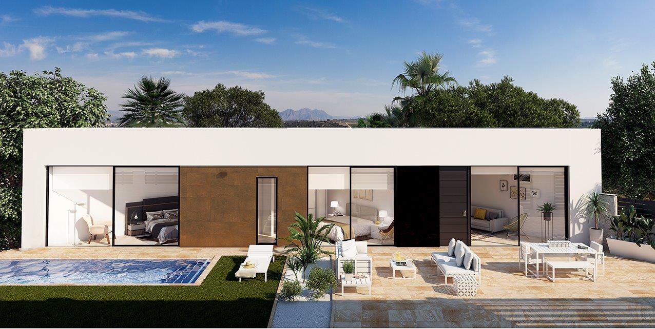 Uniek te bouwen bungalow in Benijofar